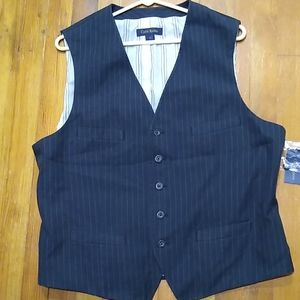 Club Room tucking stripe vest